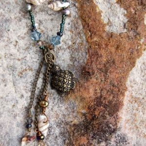By Land or By Sea Turtle Necklace